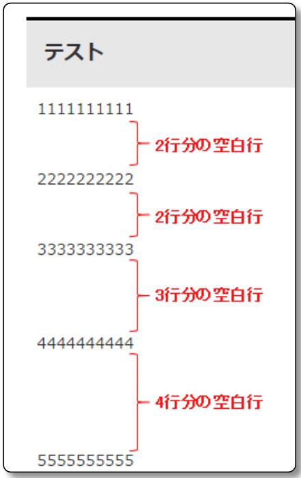 改行のhtmlタグbrを入力した時のプレビュー画面