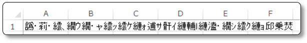 Excelの文字化け
