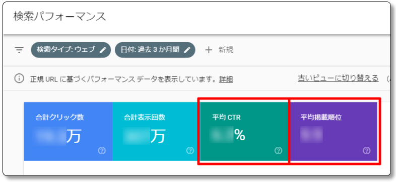 Search-Consoleの検索パフォーマンス