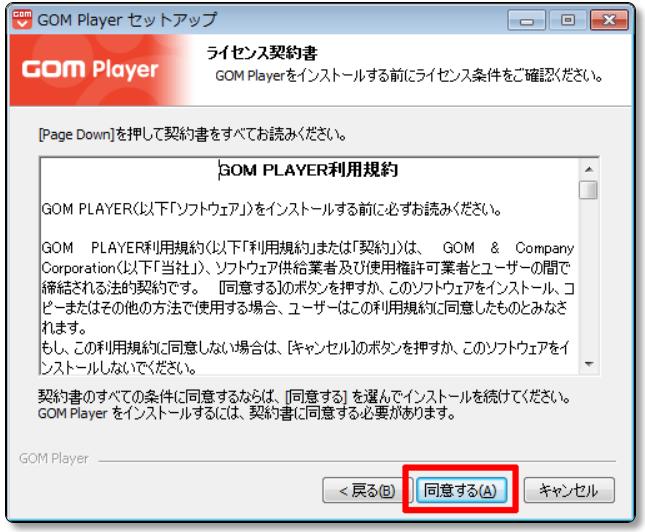 GOM-Playerのライセンス契約書